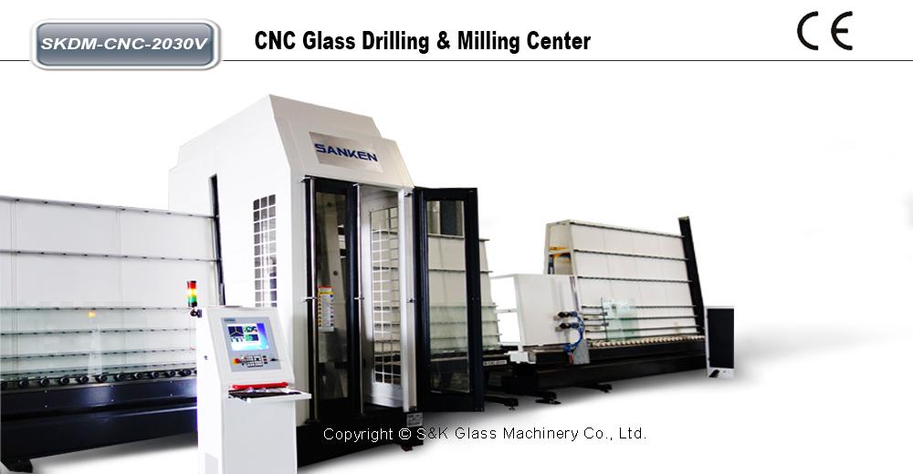 CNC立式玻璃钻铣加工中心