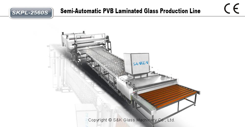 半自动PVB 夹层玻璃生产线
